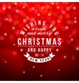 Christmas type composition on bokeh background vector image vector image