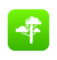 cloud tree icon green vector image