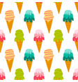 colorful set collection ice cream pattern vector image vector image