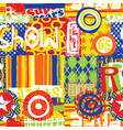 colorful urban art texture wallpaper vector image vector image