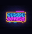 combo offers neon text design template big vector image vector image