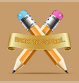 concept icon back to school inscription on the vector image vector image