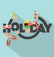 Concept Of Holiday Typography Design vector image vector image