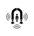 customer marketing black icon sign on vector image vector image