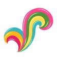 decorative stylized multicolored curls vector image