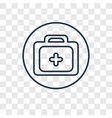 dental drill concept linear icon isolated on vector image