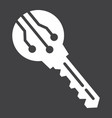 electronic key solid icon security and access vector image vector image