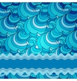 Eps 10 colorful background with sea waves vector image vector image