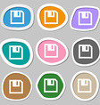 floppy icon Flat modern design Multicolored paper vector image vector image