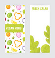 fresh salad healthy eating vegetarian menu vector image