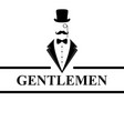 gentleman icon suit icon isolated on white vector image