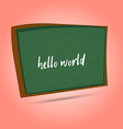 Green chalkboard for school Cartoon chalkboard vector image