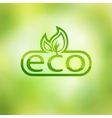 Green eco friendly background - abstract leaves vector image vector image