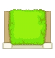 Green fence icon cartoon style vector image