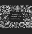 hand sketched herbal tea ingredients background vector image