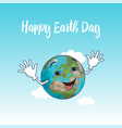 happy earth day square poster vector image