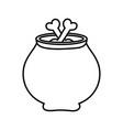 happy halloween celebration potion cauldron vector image vector image