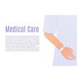 hospital patient hand vector image
