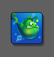 image green cartoon funny fish vector image vector image