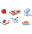 ingredients to prepare a plate vector image