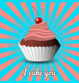 international cake day capcake dessert pastries vector image vector image