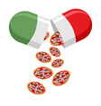 Italian national pill Medicine patriotic From the vector image vector image