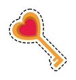 key in heart shape vector image vector image