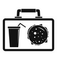 lunch bag icon simple style vector image vector image
