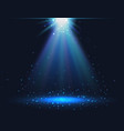 magic light background blue shining light vector image
