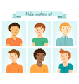 Male avatars set vector image vector image
