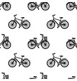 man and woman bikes seamless pattern vector image