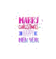 Marry xmas with bright colors vector image vector image