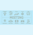 meeting banner vector image