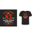 new york typography graphics for t-shirt vintage vector image vector image