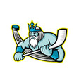 poseidon ice hockey sports mascot vector image vector image