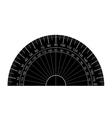 protractor silhouette vector image vector image