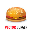 realistic cheeseburger vector image