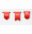 red bookmark tag sale isolated on transparent vector image