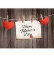 Retro holiday mother day background with red paper vector image vector image