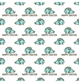 seamless pattern with easter rabbit vector image vector image