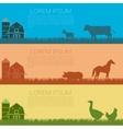 set farm banners vector image