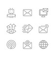set line icons email marketing vector image vector image