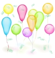 Set of balloons on white vector image vector image
