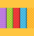 set of bright different seamless patterns vector image vector image