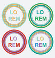 set of round colorful torn paper frames with vector image vector image