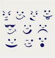 set smileys vector image vector image