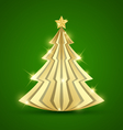 Simple golden Christmas tree vector image vector image