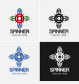 spinner logo template vector image vector image