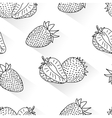 Strawberry doodle seamless vector image