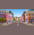 street modern empty city with zebra crossing vector image vector image